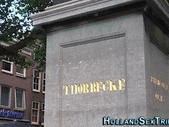 Néerlandais hooker obtient du visage
