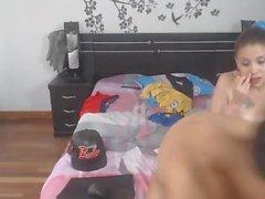 Adolescente colombiana Bebê Obtém Foda Em ambos os buracos