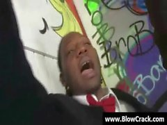 Interracial BlowBang - Facial cumshot in interracial hardcore fuck 08