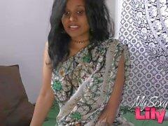 Indiska MILD Lily knullad av sin Dewar i avsaknad av sin man