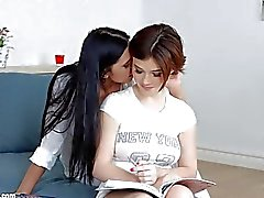 Lesson dreams by Sapphic Erotica sensual lesbian scene with Kyra Queen Veronica Moore