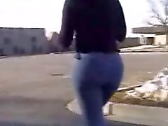 эротические Jeans черная задницы
