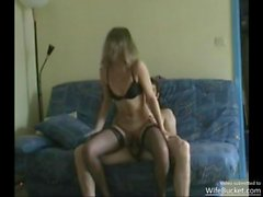 Real amateur french milf getting playful