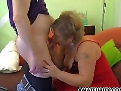 Chubby and busty amateur wife homemade hardcore action