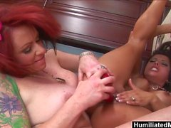 HMilfs Milfs Francesca and Kylie hunger for each others pus