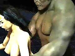 3D cartoon Wonder Woman getting fucked by a Troll