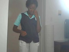 Pantalon Black Girl Wet Blanc