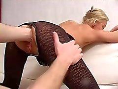 Milf sexy começ de Fisting BURRO DO e buceta e foda