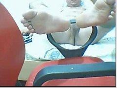 Straight guys feet on webcam #51