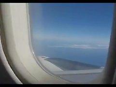 Handjob en el avión A320