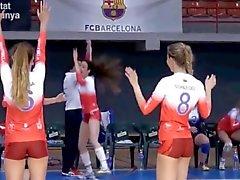 LOS DULCES culo SweetS de Cameltoe a el voleibol