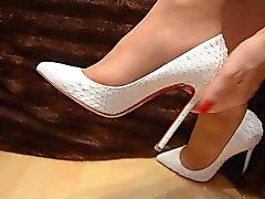 Los pies en nylon de - Video 9