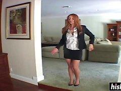 Janet Mason gives her man a handjob