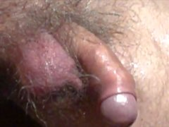 wet uncut cock waggling after warm bath