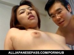 Serina Sakurai busty has cunt and asshole fucked with sex toys