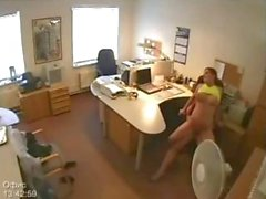 Sekreter Gizli Ofis On Camera Gets Fucked