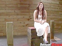 Bound and suctioned sub fucked and deepthroated
