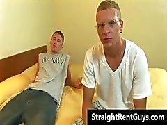 Hetero Kerle gehen Homosexuell für bares Geld Teil2