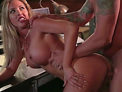 Sexually Excited mother i'd like to fuck Samantha Saint seduces her boss and receives screwed on the table