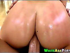 Bubble butt babe AJ Applegate analyzed by big hard cock