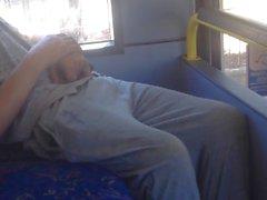 Str8 white trash Boner Umriss auf Bus
