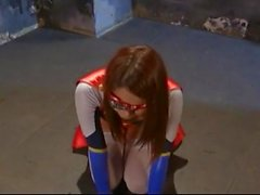 superheroine begging for life and giving head to survive