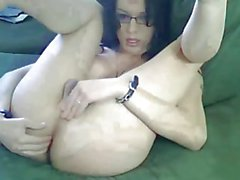 Sexy Canadian tgirl strokes and fists herself