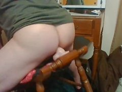 "Chair Fucking with my 7"" and 9.5"" toys - really hitting my prostate good"