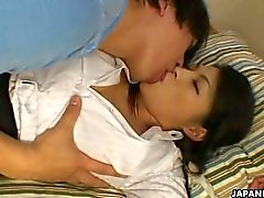 Busty Asian teacher licked and fucked