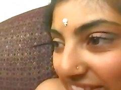 asian Indian girl with a big ass sucks dick