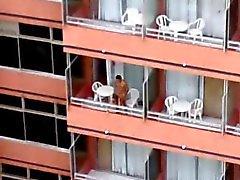 Balcon de hôtel une