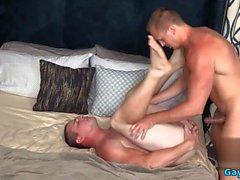 Big Dick Homosexuell Analsex mit Gesichtsbehandlung