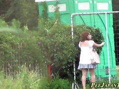 Japanska ho pees utomhus