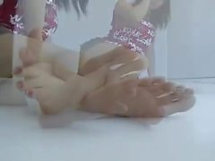 Asami's Sexy Bare Feet Tease