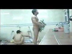 Koreanska bad alla män är alla nakna