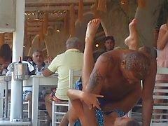 Strand Nammos Restaurant Sexy Dansen