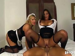 Portuguese beauties drilled by stud and making out