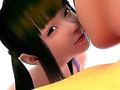 O apoio da menina - a mais quente archive relações sexuais 3D do de anime