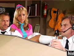 Shyla Stylez enjoys the pilot's shaft