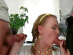 Sexo Anal dupla no escritório!