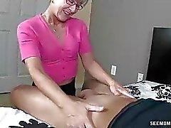 Annem Litterally Gençlerin zor Cock etmek salya akıtan