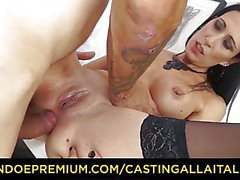 CASTING ALLA italiana - Amateur babe italienne obtient le sexe anal