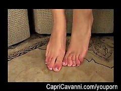 A Capri Cavalli ( Cavanni ) olii e il sucks i suoi piedi