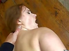 Busty amateur fucked in the bus station