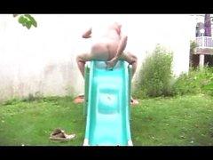 Gerade Mädchen Teen Fisting Anal Garten im Freien Sextoy 25