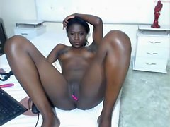 hot ebony teen masturbation