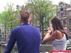 Néerlandais Hooker jizzed après cockriding touristique