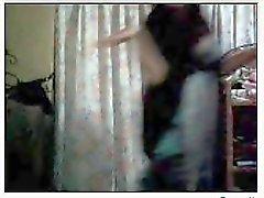 филиппинского женщина danching по вебкамере