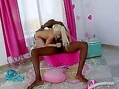 acrobata anal bionda con la coglione brutale