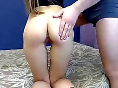 Hot Russian girl spanking and fingering